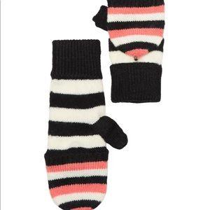 Kate Spade Heritage Stripe Pop Top Gloves